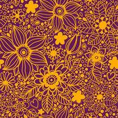 用鲜花的无缝纹理 — 图库矢量图片