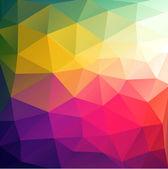 Kolorowy streszczenie tło geometryczne z trójkątnym wielokątów. — Wektor stockowy