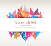 Abstract Geometric Background with place for your text. — Stock Vector