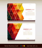 Set of abstract geometric business card — Stock Vector