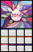 Calendar 2014. Vector — Stock Vector