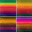 Set of four Colourful line background. — Stock Vector