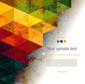 Kleurrijke abstracte geometrische achtergrond — Stockvector