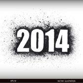 Felice anno nuovo acquerello 2014 — Vettoriale Stock
