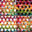 Set of four colorful abstract geometric background. — Stock Vector