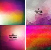 Dört renkli arka plan geometrik dizi — Stok Vektör