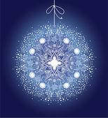 Ornamental Christmas ball — Stock Vector