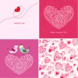 Set of four Happy valentines day backgrounds. — Stock Vector
