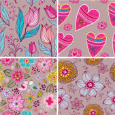Set of four Happy valentines day backgrounds. — Vecteur