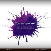 Vector illustration of Splash watercolor banner — Vettoriale Stock