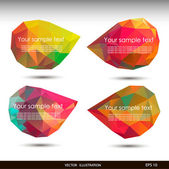 ПечатьColorful speech bubbles . Vector illustration for your business website. — Stock Vector