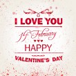 Happy Valentines Day background. I Love You background. — Stock Vector #37212927