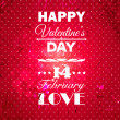 Happy Valentines Day background. — Stock Vector #37213799