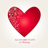 Beautiful Heart for Valentines Day — Vettoriale Stock