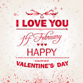 Happy Valentines Day background. I Love You background. — Διανυσματικό Αρχείο