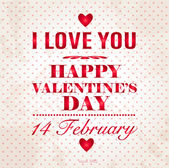 Happy Valentines Day background. I Love You background. — Vettoriale Stock