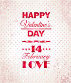 Happy Valentines Day background. I Love You background. — Vector de stock