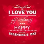 Happy Valentines Day background. — Stock Vector