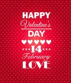 Felice giorno di san valentino sfondo. — Vettoriale Stock