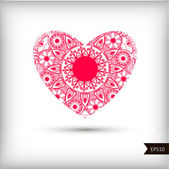 Beautiful Heart for Valentines Day background. — Vector de stock
