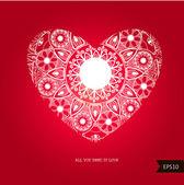 Prachtige hart voor Valentijnsdag achtergrond. — Stockvector