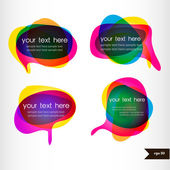 Set of four colorful speech bubble with transparency — Stock Vector