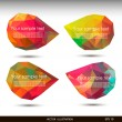 Colorful speech bubbles . Vector illustration for your business website. — Stock Vector