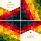 Set van abstracte geometrische visitekaartje — Stockvector