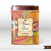 Tea box — Stock Vector