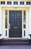 Colonial Black Door — Stock Photo