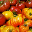 Pile of Heritage Tomatoes - Stock Photo