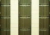 Three Empty Elevator Shafts — Stock Photo