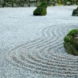 Stock Photo: Zen Garden on Dark day
