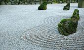Zen Garden on Dark day — Stock Photo