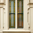 Simple Stained Church window — Stock Photo