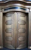 Big Brass Revolving Bank Doors up close — Stock Photo