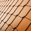 Copper tile wall - Stock Photo
