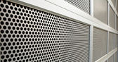 Perforated Security door — Stock Photo