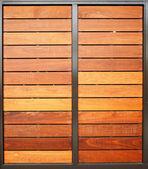 Wood Garage Doors Vertical — Foto de Stock