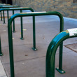 Royalty-Free Stock Photo: Row of empty bike Racks