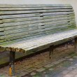 Single Bench perspective — Stock Photo