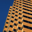 Tan Skyscraper Blue Sky — Stock Photo