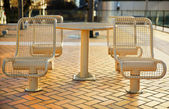 City Metal Picnic Seats — Stock Photo