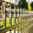Pointed metal fence perspective — Stock Photo #21163537