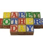 Happy Mothers day in vintage alpabet blocks — Stock Photo #2524845