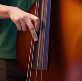 Playing the Bass — Stock Photo