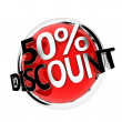 Discount button - Stock Photo