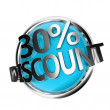 Blue discount button — Stock Photo