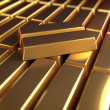 Illustration of a lot of gold bars — Stock Photo