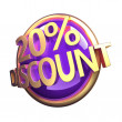 Shiny gold purple discount button — Stock Photo